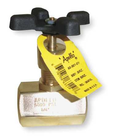 Globe Valve, 1/2 In., FNPT, Brass