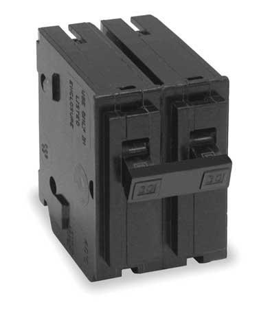 Circuit Breaker, 15A, 2P, 10kA, 120/240VAC