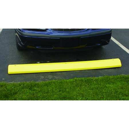 Parking Curb, 72 In, Yellow, Polyethylene