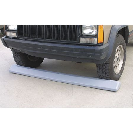 Parking Curb, 72 In, Gray, Polyethylene