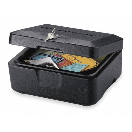 Fire Safe Security Chest, 0.2 cu ft, Black