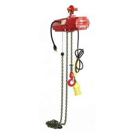 Electric Chain Hoist, 300 lb., 15 ft.