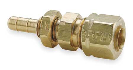 "0.17"" Barb x 1/4"" Compress-Align Brass Bulkhead Union"