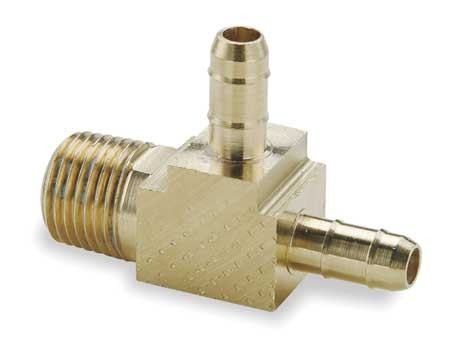 "1/8"" x 1/4"" x 1/4"" Barb Brass Male Run Tee"