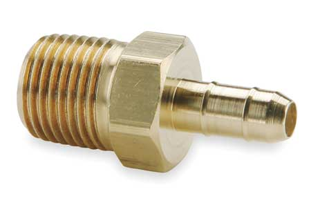 "10-32 MNPT x 1/8"" Barb Brass Male Connector"