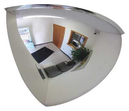 Qtr Dome Mirror, 18In., Scratch Res Acryl