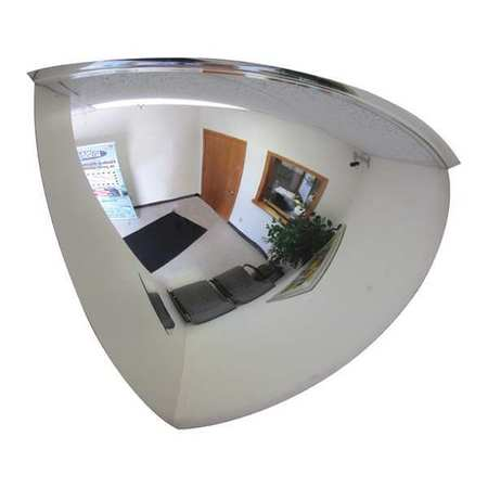 Qtr Dome Mirror, 26In., Scratch Res Acryl