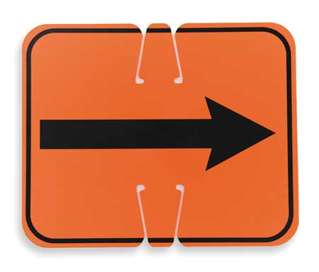 Traffic Cone Sign, Orange/Black, Rev Arrow