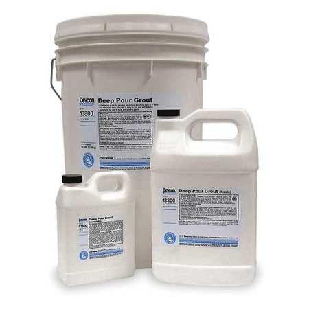 Deep Pour Grout, 50 lb., Pail, Gray