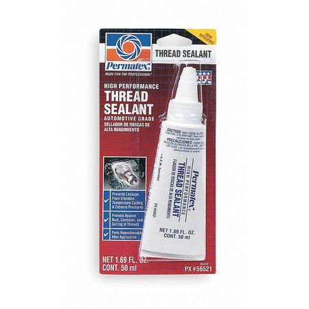 Thread Sealant, Tube, White, -65 to 300F