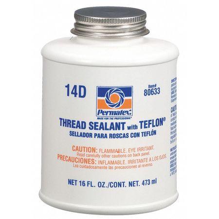Thread Sealant with PTFE, 16 oz., White