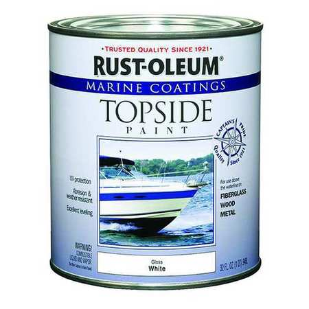 Topside Paint, Bright Red, Alkyd
