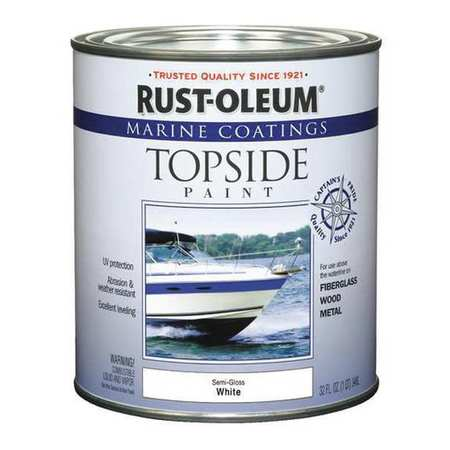 Topside Paint, White, Alkyd
