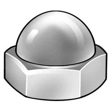 M16-2.00 A2 Stainless Steel Plain Finish Acorn Nuts,  1 pk.