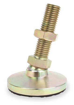 Leveling Mount, Swivel Stud, 1-8, 4 in Base