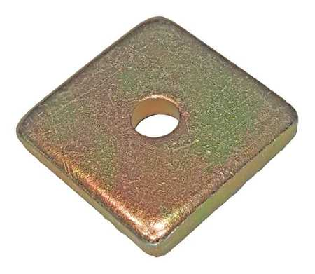 Channel Washer, 1/2 In, Gold, PK25