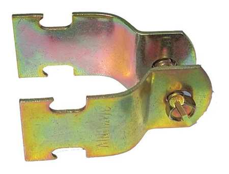 Channel Pipe Clamp, 1/2 In, Gold, PK10