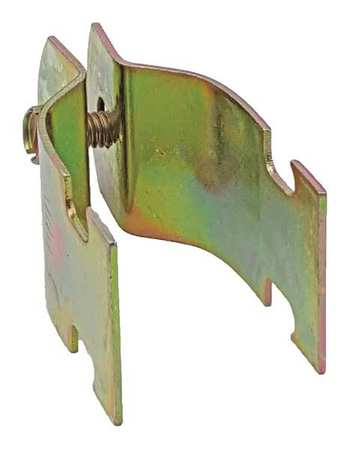 Channel Pipe Clamp, 3/4 In, Gold, PK10
