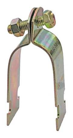 Channel Pipe Clamp, 2 In, Gold, PK10