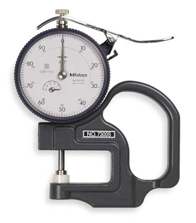 Dial Thickness Gage,  0 to 0.500 In.