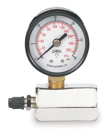 Test Gauge, Air, 0-15 PSI