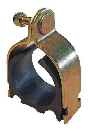 Channel Cushioned Clamp, 1-1/8 In, Gold