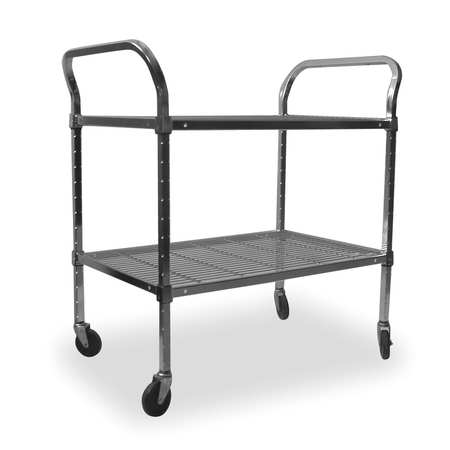 Wire Cart, 2 Shelf,  36x18x39, Chrome