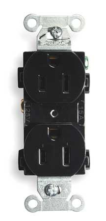 15A Duplex Receptacle 125VAC 5-15R BK