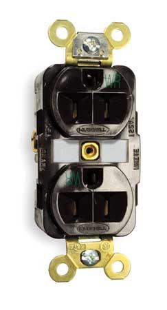15A Duplex Receptacle 125VAC 5-15R BN