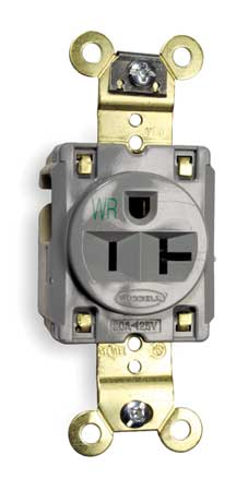 20A Single Receptacle 125VAC 5-20R GY