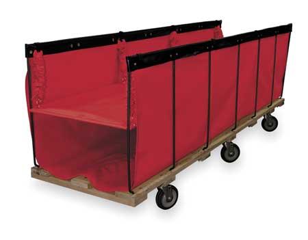 "Open End Flatwork Truck,  85"",  red vinyl"