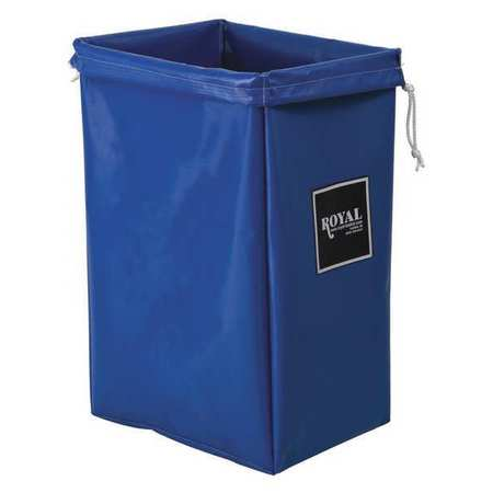 Hamper Bag, 30 gal, Blue Vinyl