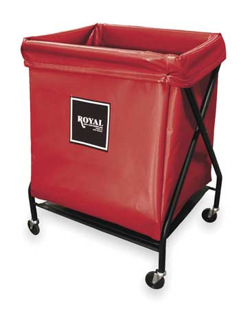 X-Frame Cart, 8 Bu, Red Vinyl