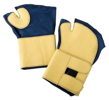 Anti-Vibration Gloves, L, Blue/Gold, PR