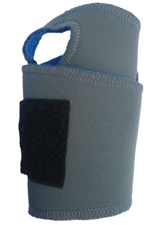 Wrist Support, L/XL, Ambidextrous, Gry/Blue