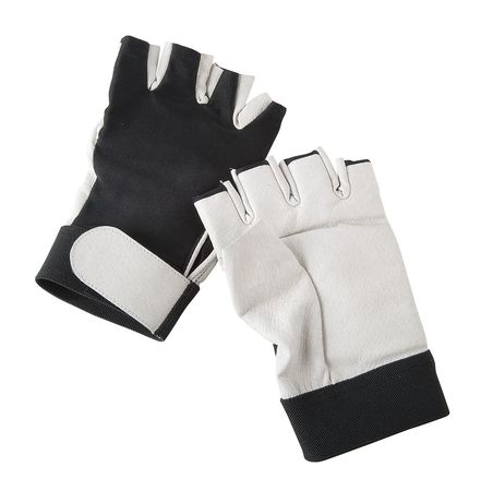 Anti-Vibration Gloves, L, Black/White, PR