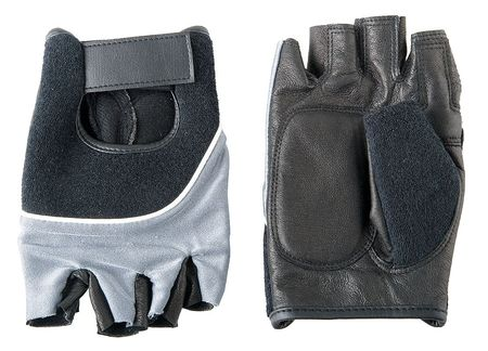Anti-Vibration Gloves, L, Blk/BL/Silver, PR