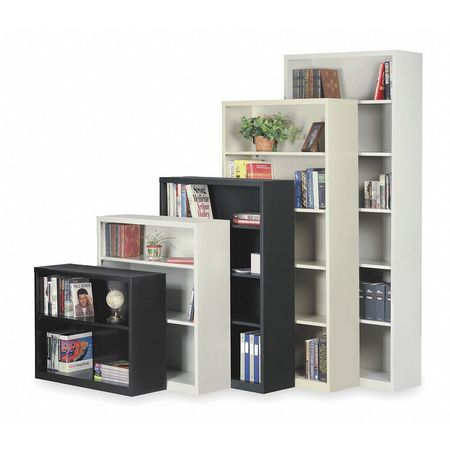 "2-Shelf Stationary Bookcase,  30""x34-1/2"" Black"