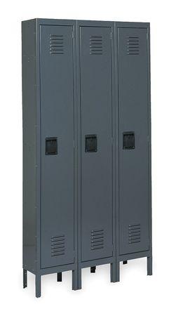 Unassembled Locker, W 45, D 18, H 78, Gray