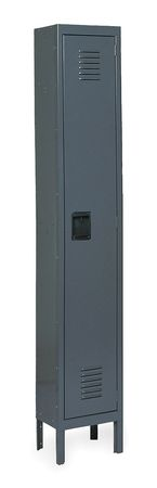 Unassembled Locker, W 12, D 18, H 78, Gray