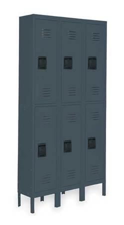 Unassembled Locker, W 36, D 18, H 78, Gray