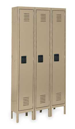 Unassembled Locker, W 36, D 18, H 78, Tan