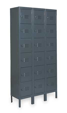 Unassembled Locker, W 36, D 18, H 78, Gray