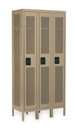 Unassembled Locker, Ventilated, W 36, D 18
