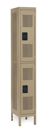 Unassembled Locker, Ventilated, W 12, D 18
