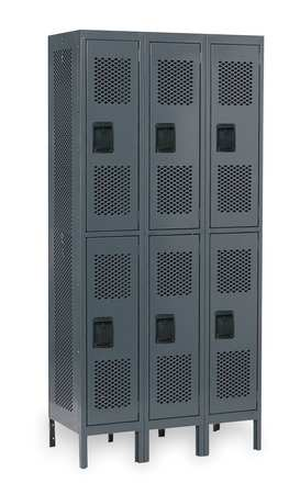 Unassembled Locker, Ventilated, W 36, D 18