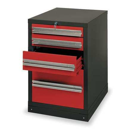 Drawer Pedestal, 23x27-3/4x33-1/2, Blk/Red