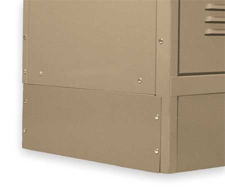 Locker End Base, D 12 In, H 6 In, Tan