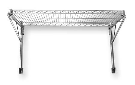 Wall Shelving, H 14, W 60, D 14, Chrome