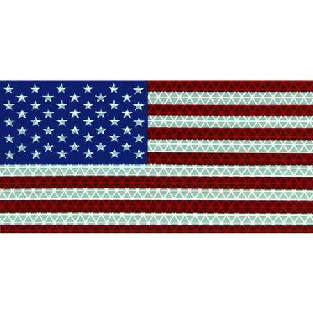 American Flag Decal, Reflect, 6.5x3.75 In